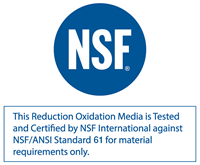 KDF is NSF Certified against NSF/ANSI Standard 61 for material requirements only.
